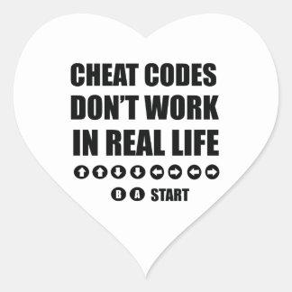 Funny Gamer designs Heart Sticker