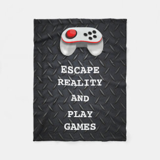 Funny Gamer Quotes Fleece Blanket