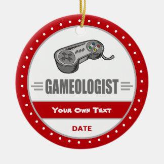 Funny Gamer's Ceramic Ornament