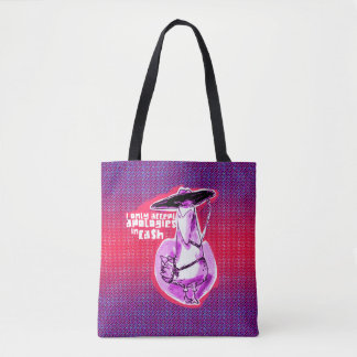 funny gangster duck cartoon tote bag