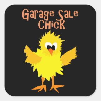 Funny Garage Sale Chick Cartoon Square Sticker