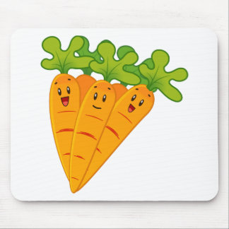 Funny garden carrots mouse pad