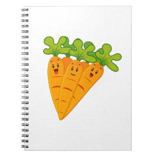 Funny garden carrots notebooks