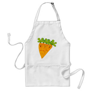 Funny garden carrots standard apron