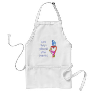 Funny Gardening Quote Bluebird Apron