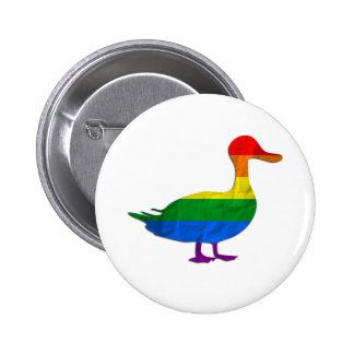 Funny Gay and Lesbian Pride Duck, Quack Quack 6 Cm Round Badge
