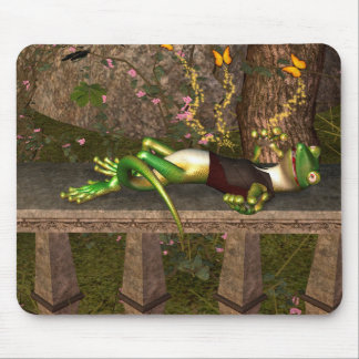 Funny gecko mouse pad