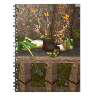 Funny gecko note book
