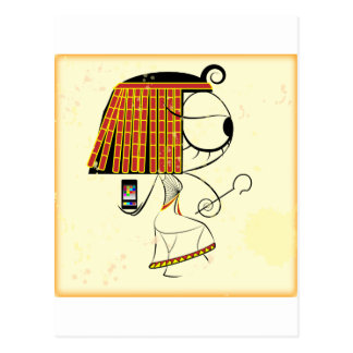 Funny geek egyptian empress postcards