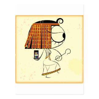 Funny geek egyptian empress postcard