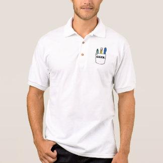 Funny GEEK Pocket Protector Polo Shirts