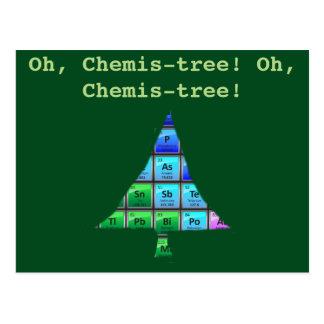 Funny Geek Pun: Oh, Chemis-tree! Postcard