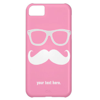 Funny geeky glasses with mustache iPhone 5C case