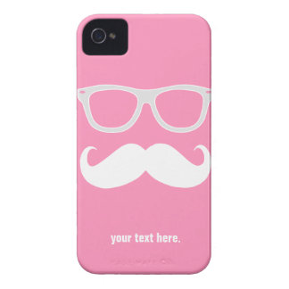 Funny geeky glasses with mustache iPhone 4 cover