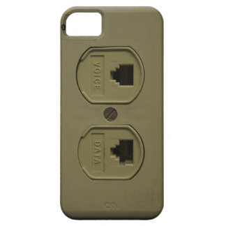 Funny Geeky Phone Jack Voice and Data Plug iPhone 5 Case