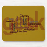 Funny Geeky Word Cloud Mousepad