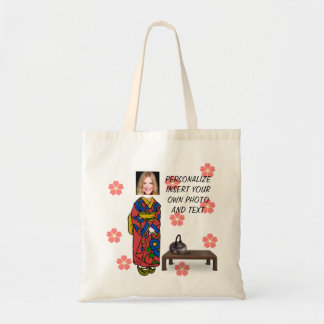 Funny Geisha, Tote Bag - Add Photo & Text