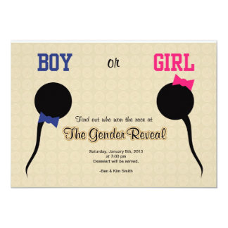 Funny Gender Reveal Party Invitation/ Announcement