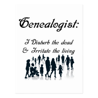Funny Genealogy  Postcard