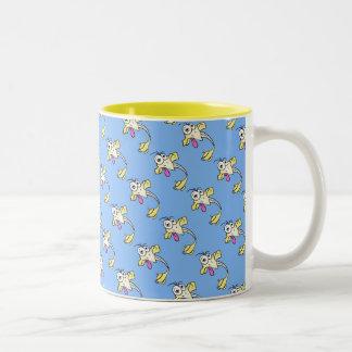 Funny genie Two-Tone coffee mug