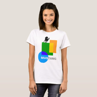 Funny Geometry And A Horse Composition T-Shirt