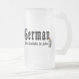 Funny German Drinking Frosted Glass Beer Mug