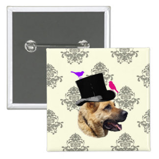 Funny German shepherd dog Pinback Button