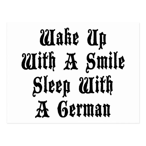 Funny German Sleep With A German Postcards