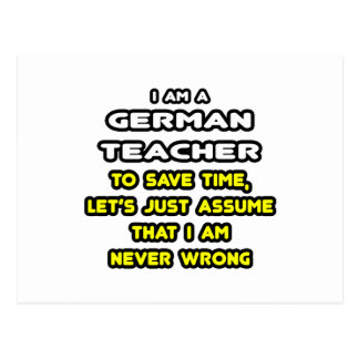 Funny German Teacher T-Shirts and Gifts Post Cards