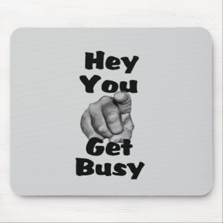 Funny Get Busy Finger Mouse Pad