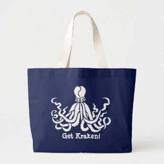 Funny Get Kraken! Nautical Blue Tote Bag