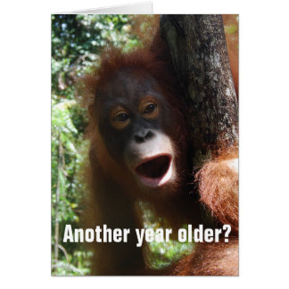 Funny Getting Older Birthday Humor Note Card