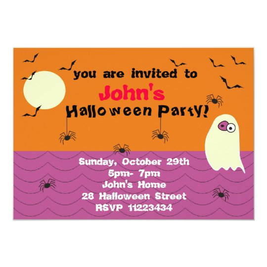 Funny Ghost Halloween Party Invitation