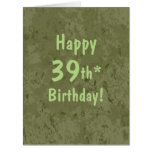 Funny Giant 39th Birthday Card Template Customise