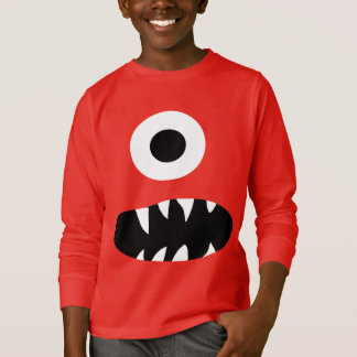 Funny Giant One Eyed Monster Face Kids Colorful T-Shirt