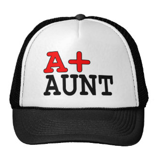 Funny Gifts for Aunts : A+ Aunt Mesh Hat