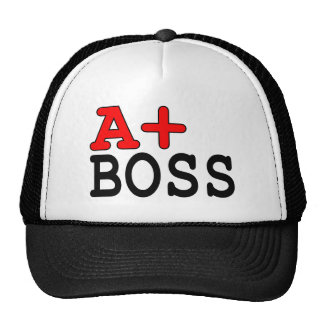 Funny Gifts for Bosses A+ Boss Trucker Hat