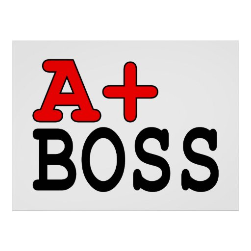 Funny Gifts for Bosses : A+ Boss Poster