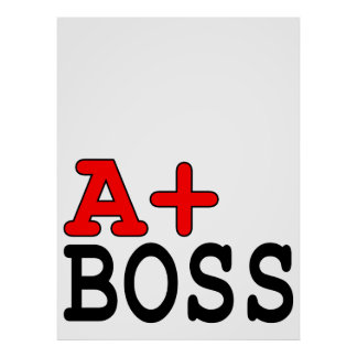 Funny Gifts for Bosses : A+ Boss Posters