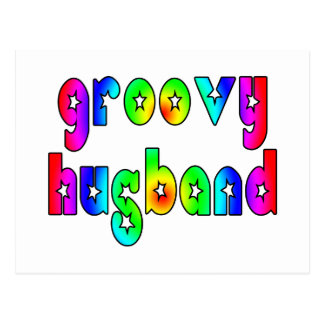 Funny Gifts for Cool Husbands : Groovy Husband Postcard