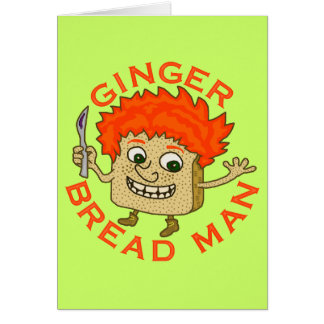 Funny Ginger Bread Man Christmas Pun Card