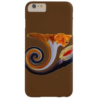 Funny Ginger Cat Goldfish abstract musical art Barely There iPhone 6 Plus Case