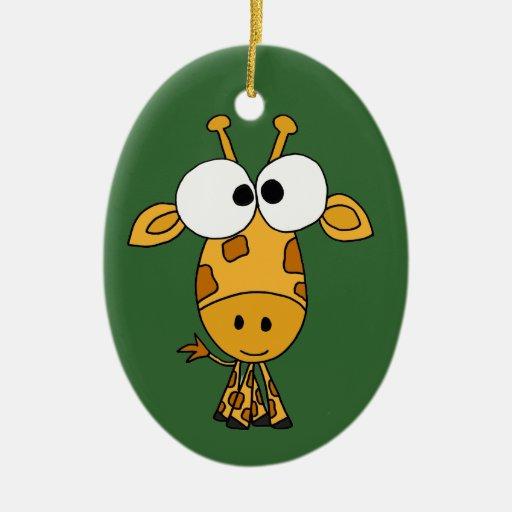 Funny Giraffe Cartoon Christmas Ornaments - Zazzle.com.au