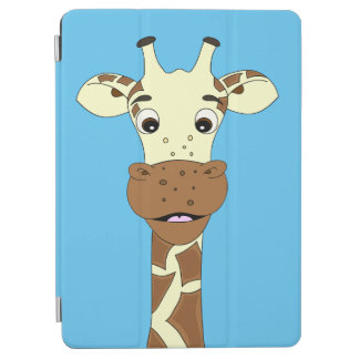 Funny giraffe cartoon kids iPad air cover