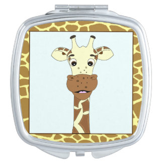 Funny giraffe cartoon vanity mirrors