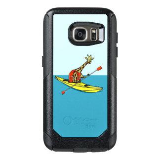 Funny giraffe kayaking OtterBox samsung galaxy s7 case