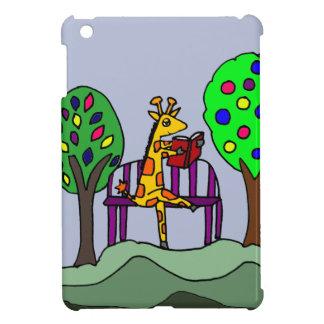 Funny Giraffe Reading at the Park iPad Mini Case
