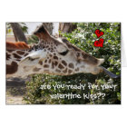 Funny Giraffe, ready for your VALENTINE kiss?? Card
