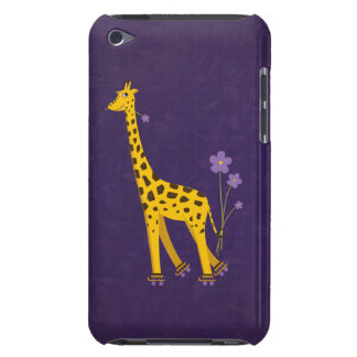 Funny Giraffe Roller Skating Violet iPod Touch Cover