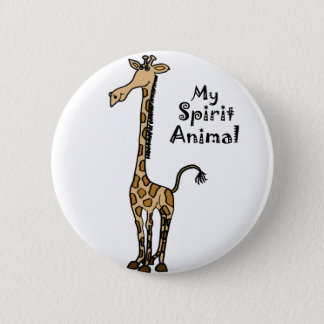 Funny Giraffe Spirit Guide 6 Cm Round Badge